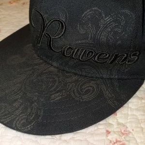 NFL Baltimore Ravens Black Scroll Baseball Hat